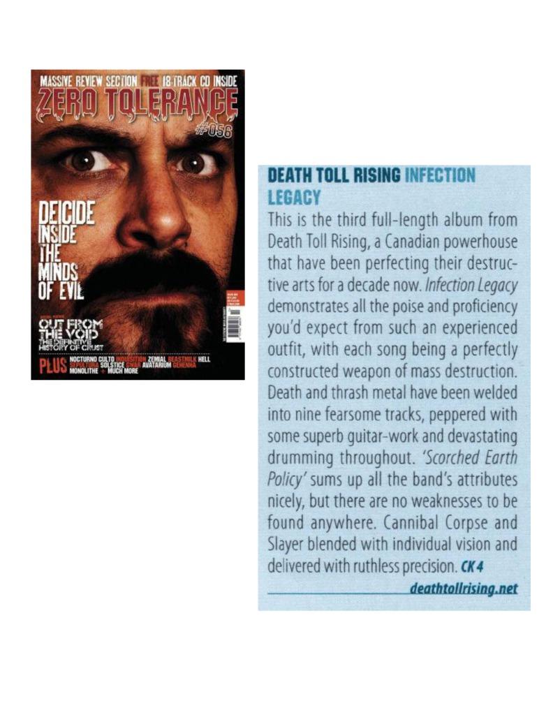 Dec 2013 - Jan 2014 - ZT Mag - Review - Death Toll Rising