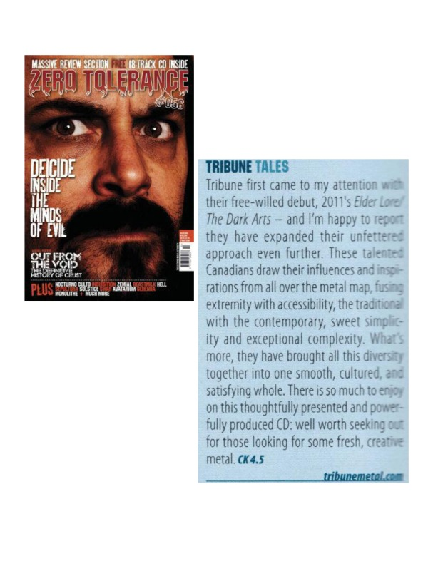 Dec 2013 - Jan 2014 - ZT Mag - Review - Tribune