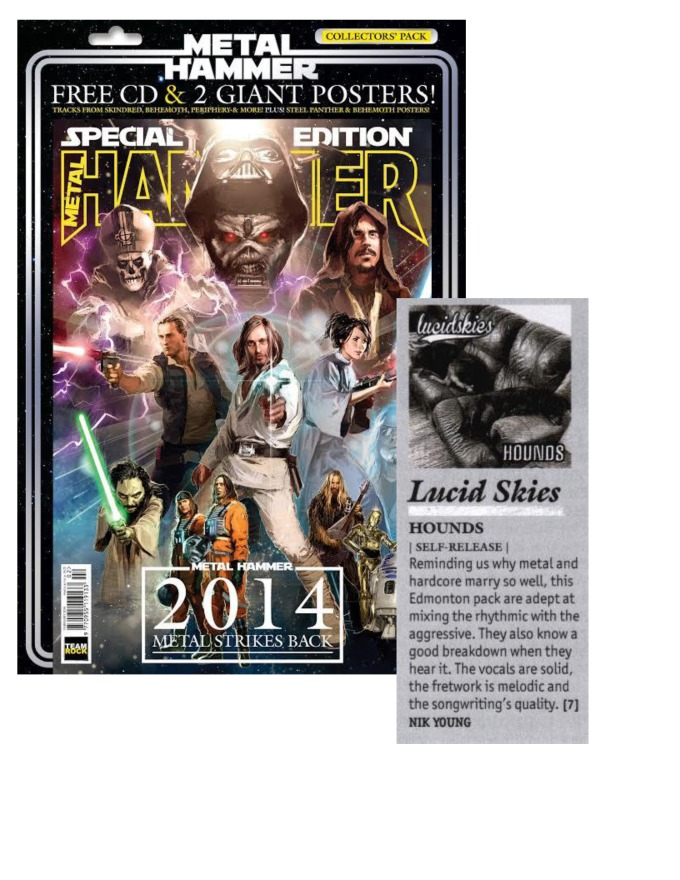 February 2014 - Metal Hammer - Lucid Skies