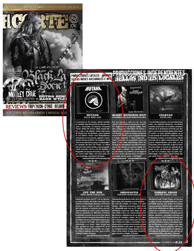 El Corte Mag - Mutank + Endless Chaos - Reviews