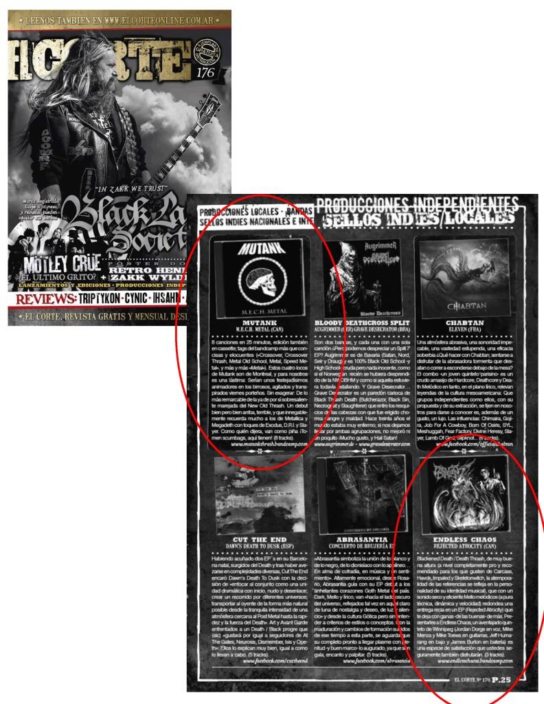 El Corte Mag - Mutank + Endless Chaos - Reviews