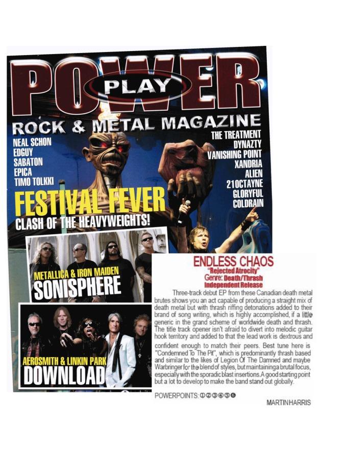 May 2014 - Powerplay Magazine UK - Endless Chaos