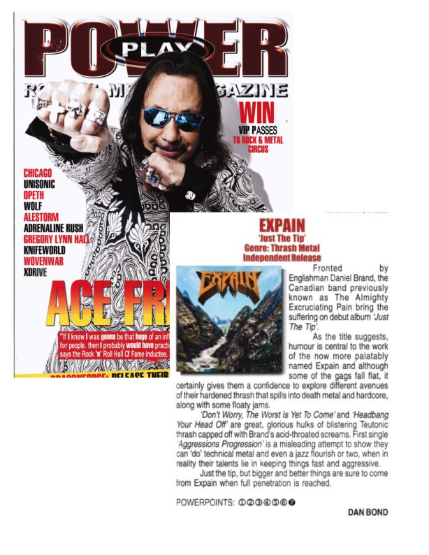 AUGUST 2014 - POWERPLAY MAG - UK - REVIEW - EXPAIN - JUST THE TIP
