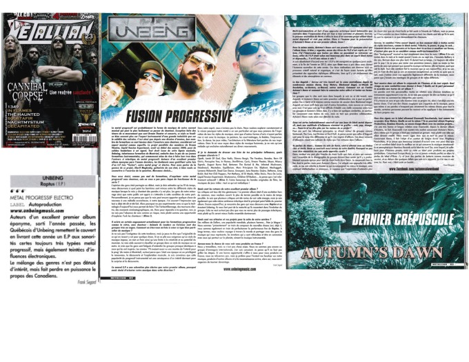 Metallian Mag - Unbeing #85 - Interview - Review - print