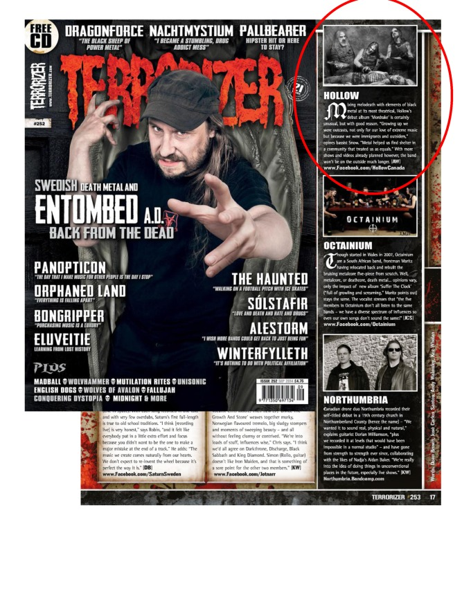 Sept 2014 - Terrorizer - Hollow