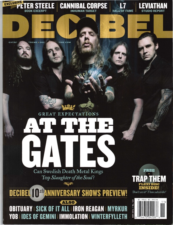 Decibel Mag Cover November 2014