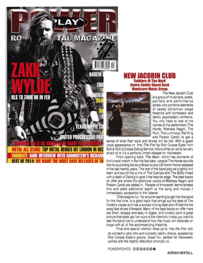 DEC 14 - JAN 15 - POWERPLAY MAG UK - Issue #171 - New Jacobin Club