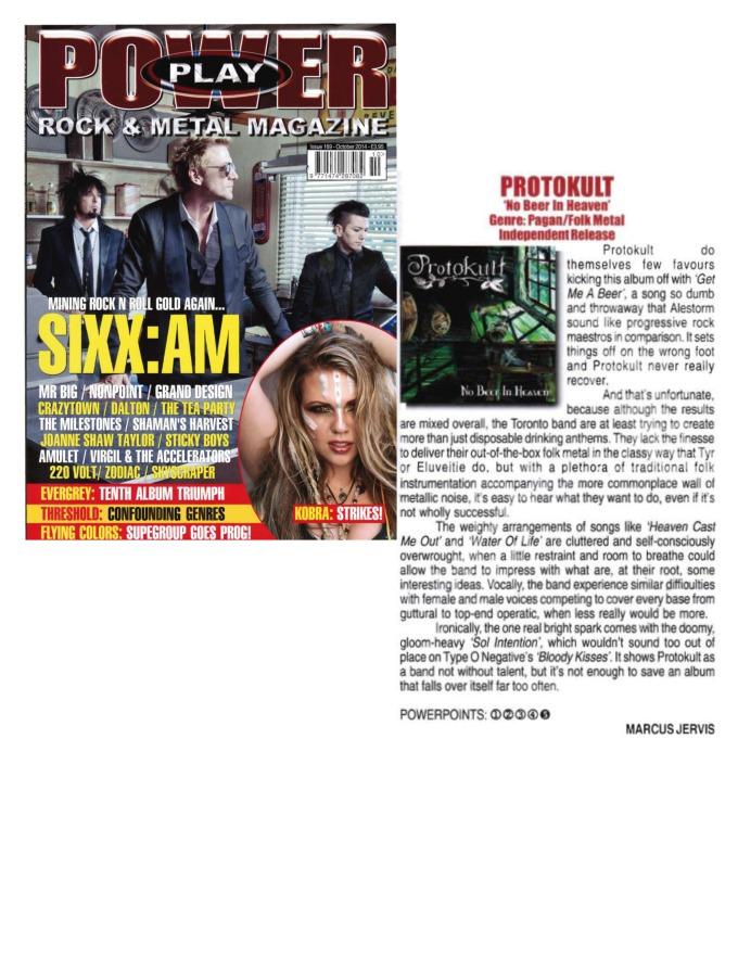 October 2014 - Power Play Mag UK - Issue # 169 - Protokult