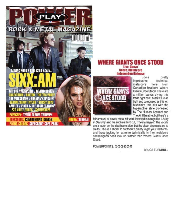 October 2014 - Power Play Mag UK - Issue # 169 - Where Giants Once Stood