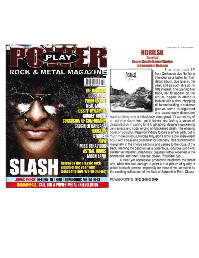 September 2014 - Powerplay Mag UK - Issue # 168 - Norilsk