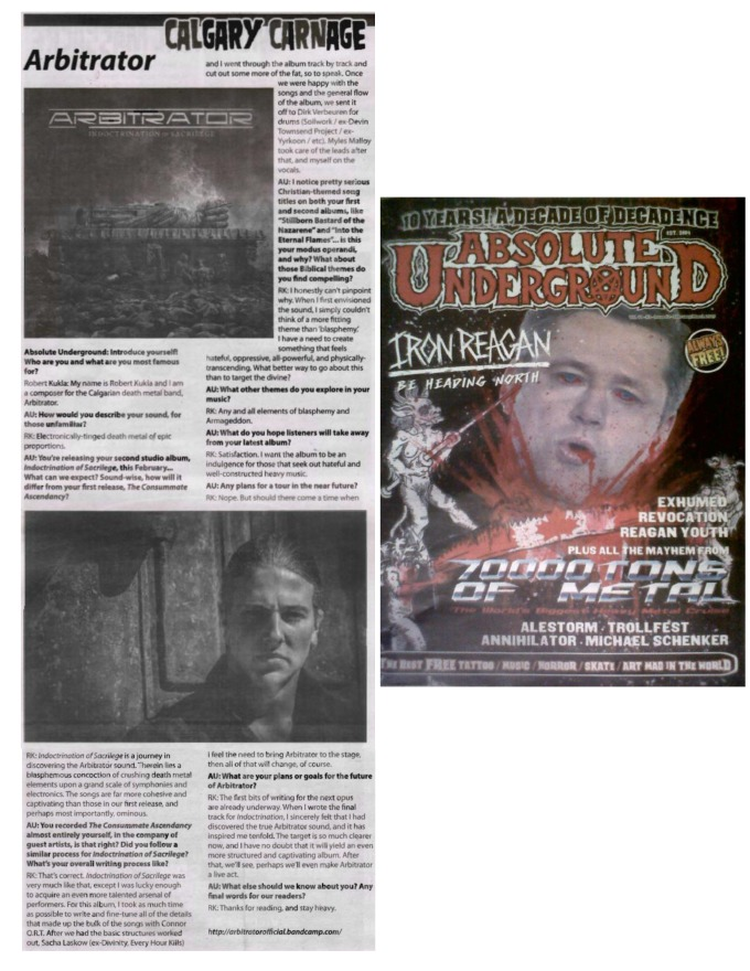 Asbsolute Underground Mag - Feb-March 2015 - Arbitrator