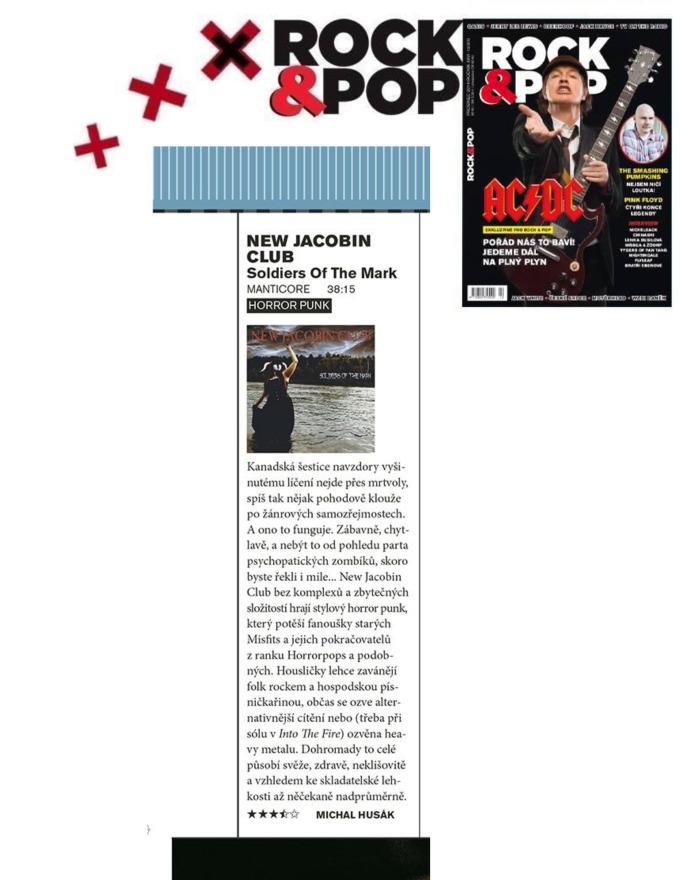 Dec 2014 - Rock and Pop - Czech - New Jacobin Club