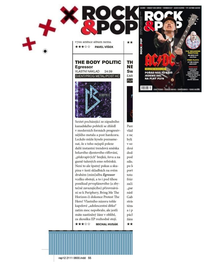 Dec 2014 - Rock and Pop - Czech - The Body Politic