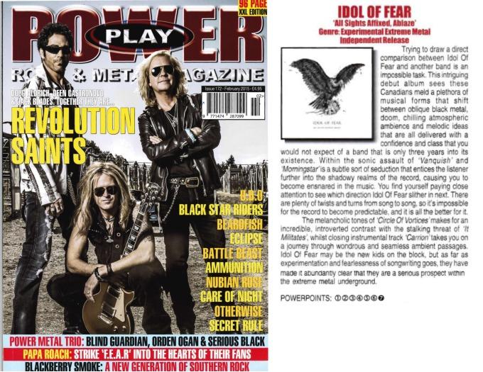 February 2015 - Powerplay Mag UK - #172 - Idol of Fear