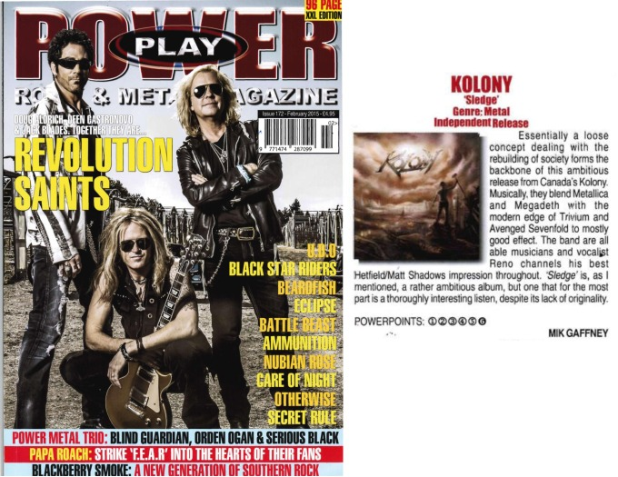 February 2015 - Powerplay Mag UK - #172 - Kolony