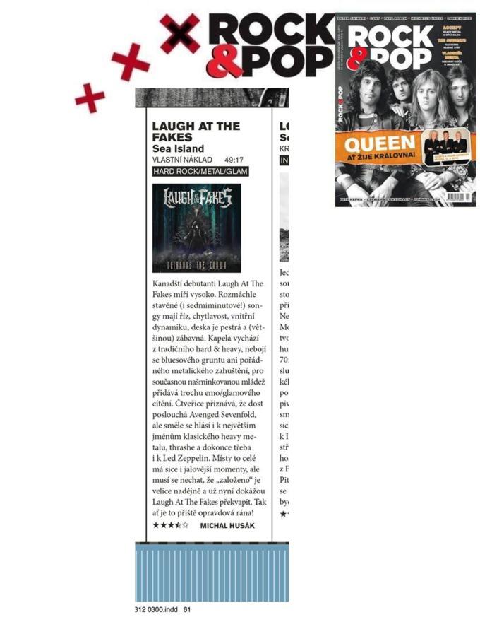 Jan 2015 - Rock and Pop - Czech - LATF