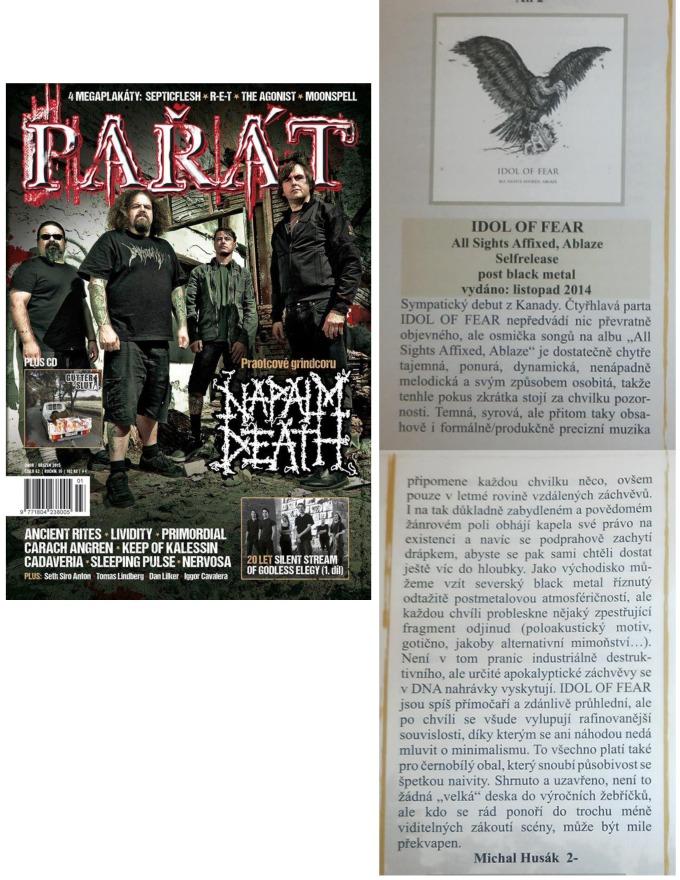 March 2015 - Parat - Czech - Idol of Fear
