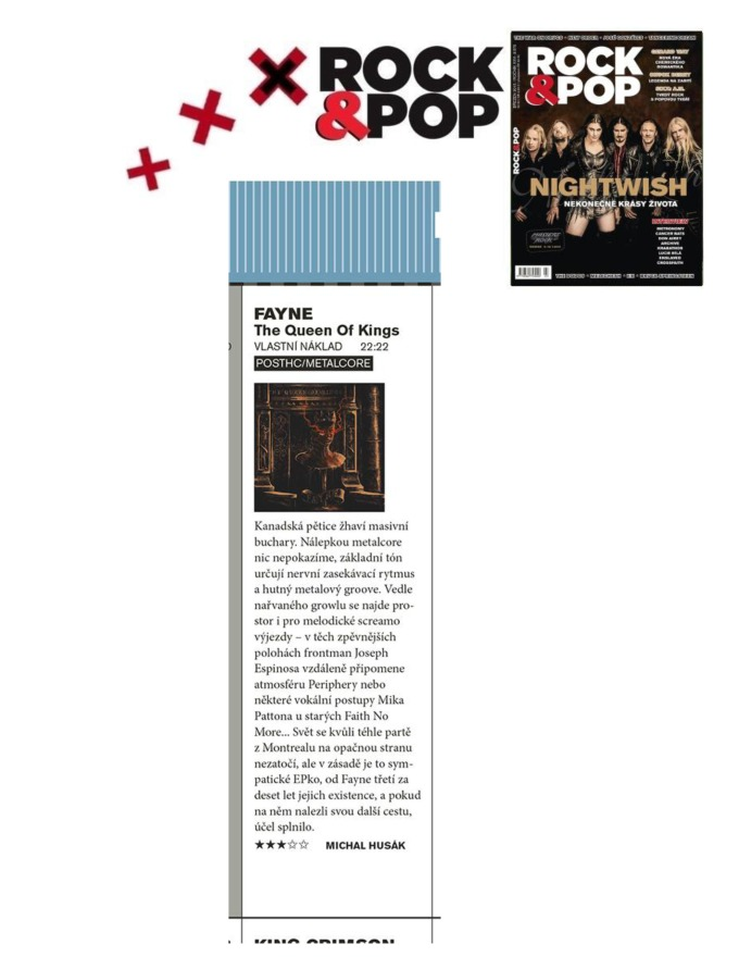 March 2015 - Rock and Pop - Czech  - Fayne