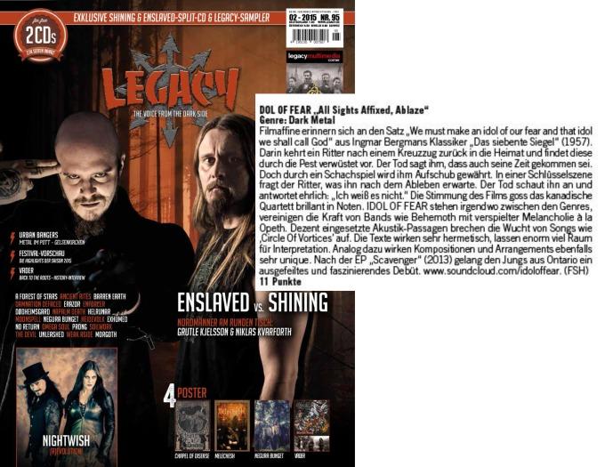 February 2015 - Legacy - Idol of Fear