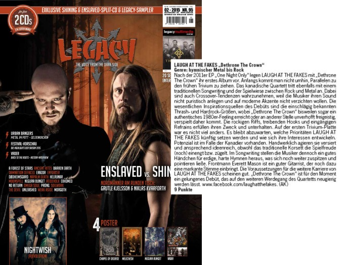 February 2015 - Legacy - Laugh At The Fakes