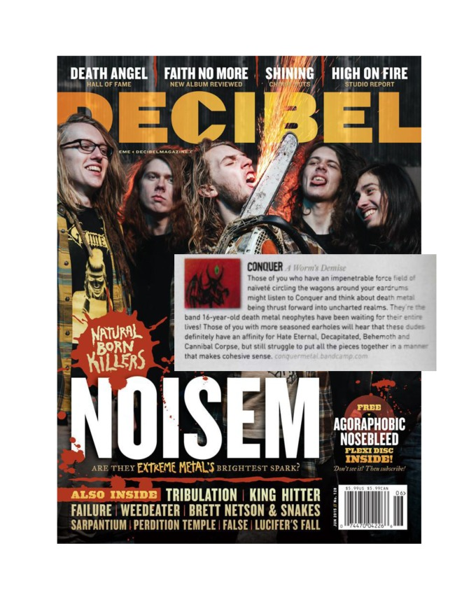 Decibel Mag - June 2015 - Conquer