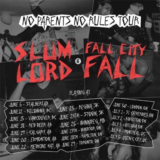 Fall City Fall tour poster