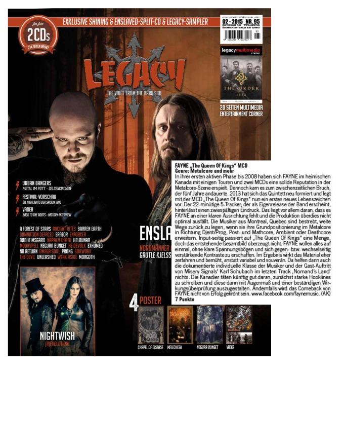 February - Legacy #95 - Fayne