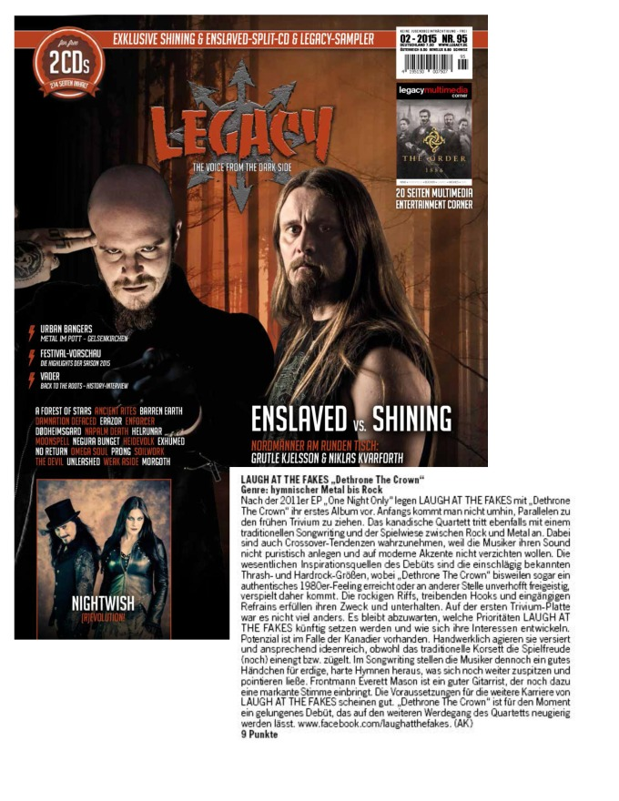 February - Legacy #95 - Laugh At The Fakes