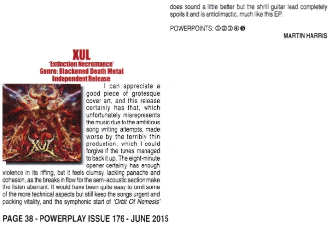 June 2015 - Powerplay Mag UK - Review - XUL