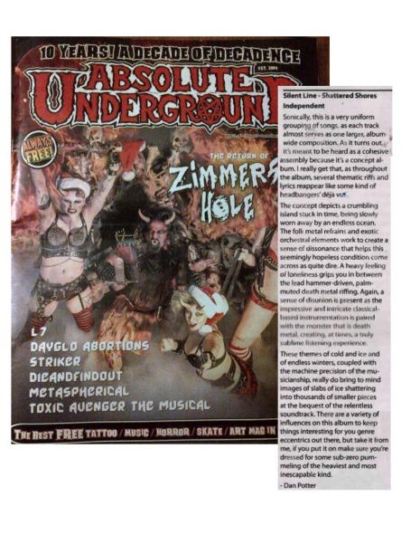 Asbolute Underground Mag - Dec2015-Jan2016 - Silent Line - print