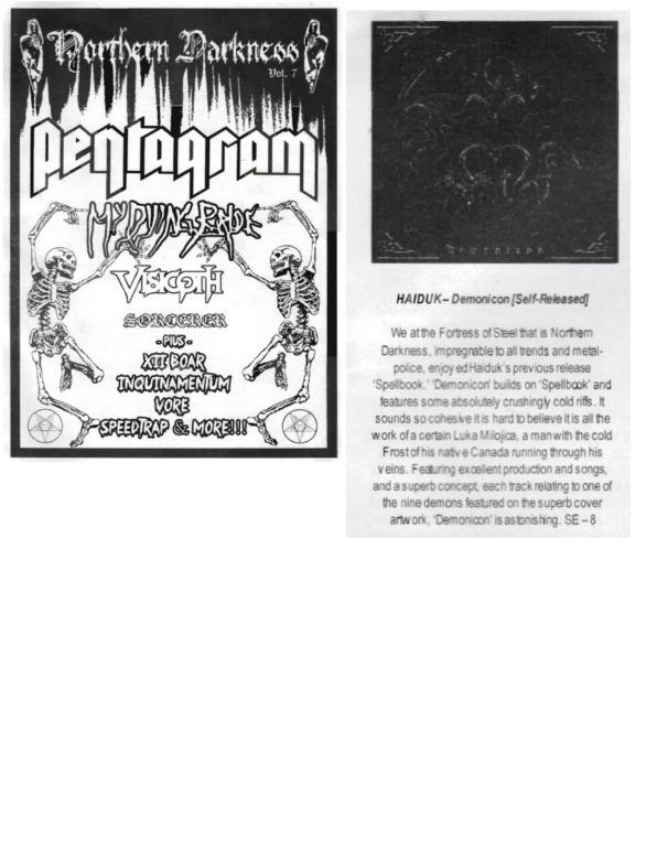 Norther Darkness - Vol. 7 - Review - Haiduk - Demonicon