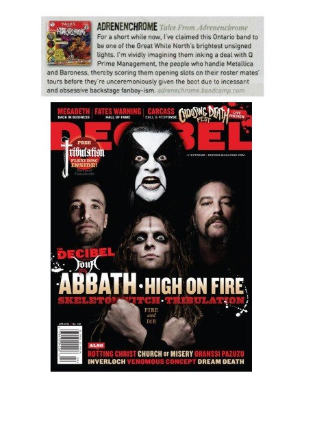 APRIL 2016 - DECIBEL MAG - ADRENECHROME
