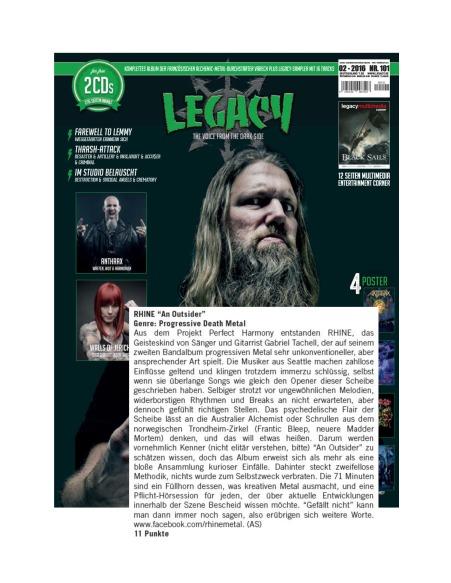 Legacy #101 - February 2016 - RHINE
