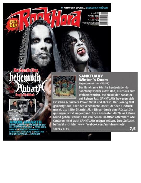 April 2016 - Rock Hard - Germany - Sanktuary
