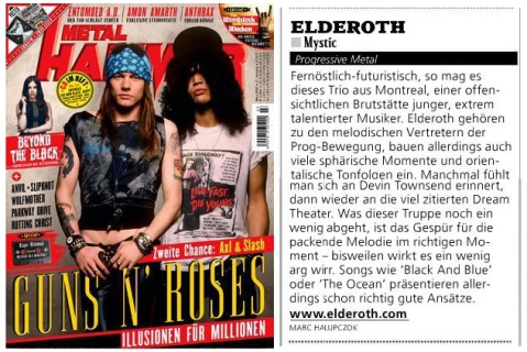 March 2016 - Metal Hammer Germany - Elderoth