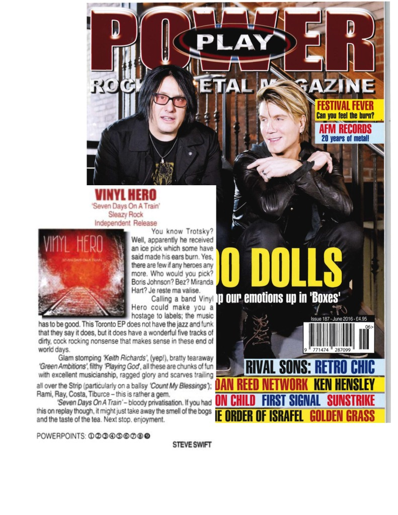 June 2016 - Powerplay Mag UK - Vinyl Hero