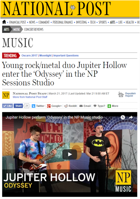 March 20, 2017 - National Post - Jupiter Hollow