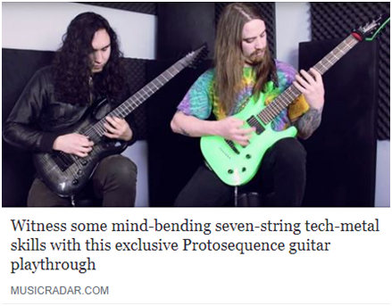 0 Music Radar Premiere  Witness some mind-bending seven-string tech-metal  skills in this exclusive Protosequence guitar playthrough 664f508f0cf4